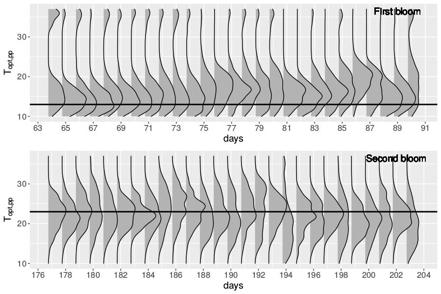 Optimal phytoplankton growth temperature